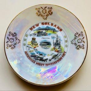 "Vintage lusterware New Orleans collectors plate 5"""